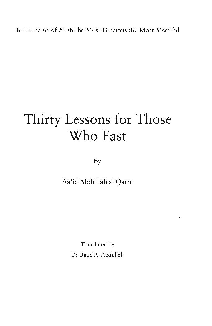 30 lessons for those who fast pdf download pdf book
